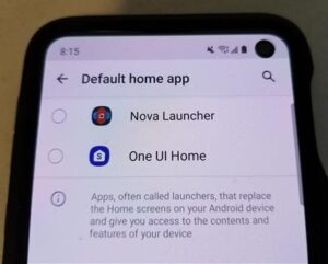 How to Change Default Home Screen Launcher Galaxy S10 or S10+ Step 7