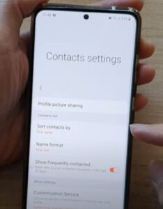 How To Sort Contacts By First Name or Last Name Galaxy S21