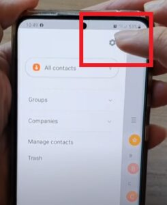 How To Sort Contacts By First Name or Last Name Galaxy S21 Step 3