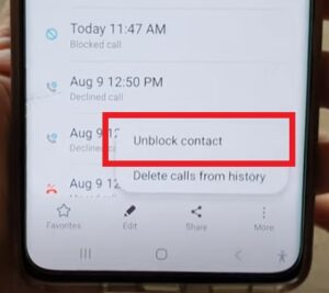 How To Unblock a Contact on a Galaxy S21